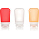 humangear GoToob+ 3-Pack Medium 74ml Clear/Orange/Red